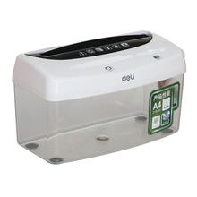 desktop manual hand-shake small paper shredder file card disc destroyer