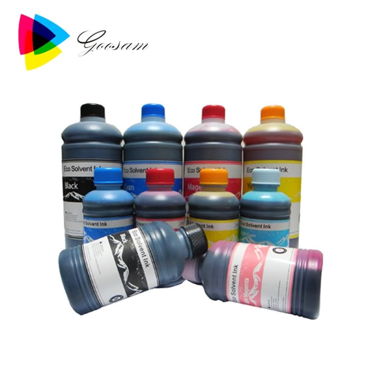 Eco solvent ink for PVC, Metal, Glass, Crystal, Stone, Leather, Ceramic, Wood, Bamboo, Plastic, Paper, Aluminum printing