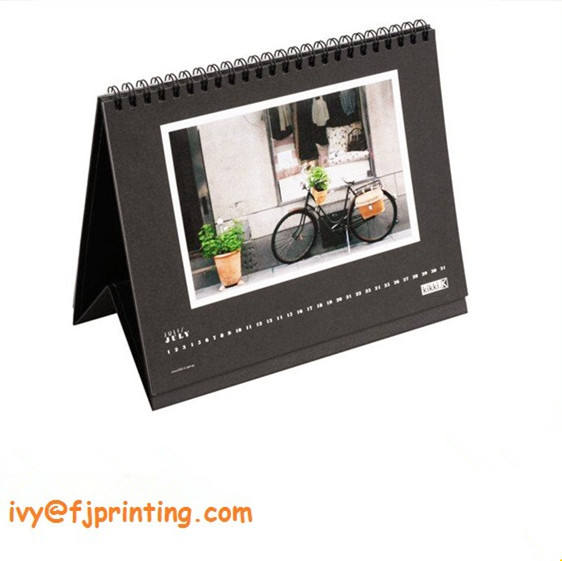 1250gsm board base Desk calendar with spiral binding table calendar