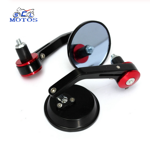 "7/8"" Round Bar End Rear Mirrors Moto Motorcycle Motorbike Scooters Rearview Mirror Side View Mirrors"