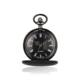 Classical popular style stoving varnish pocket watches blank dull polished 40mm diameter quartz pocket watch with train