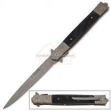 13 Inch quality resin handle damascus steel pocket outdoor tactical rescue knife