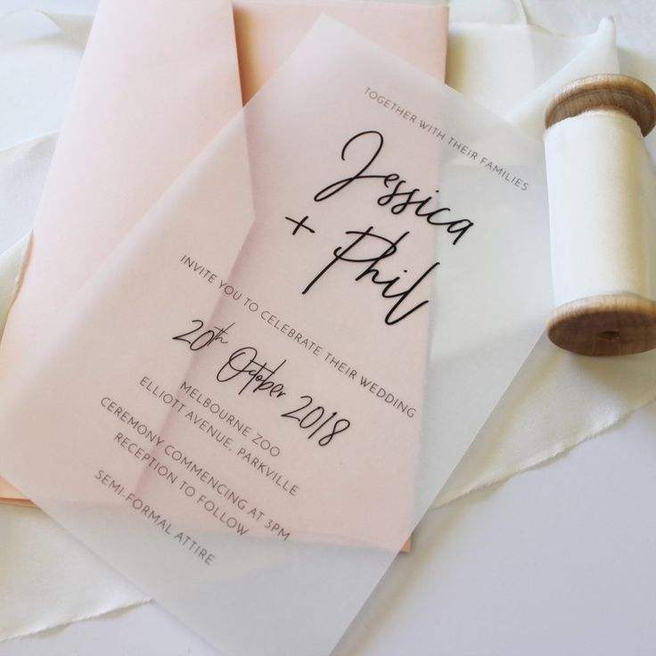Luxurious Fancy DIY Vellum Wedding Invitation Butter Paper Cards Invitations with Foiling Printing