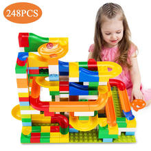 Kids 248 Pieces Construction Marble Run Building Blocks Toy