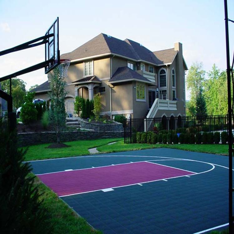 Interlocking plastic grid tiles multi-purpose sports court flooring used basketball courts for sale