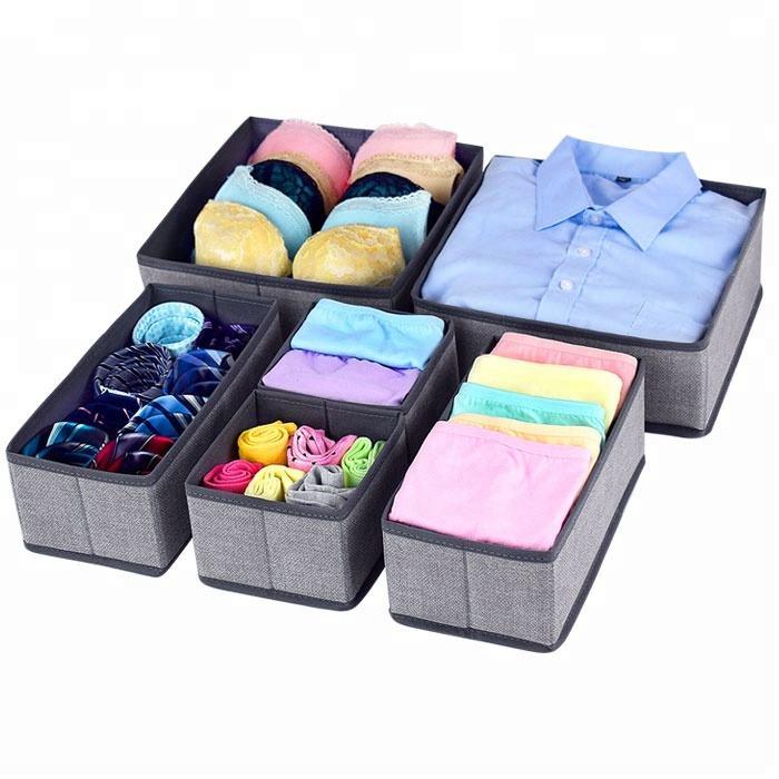 Home Storage Divider Non-woven Scarfs Socks Bra Organizer Storage Box Closet For Underwear Dress Drawer Organizer