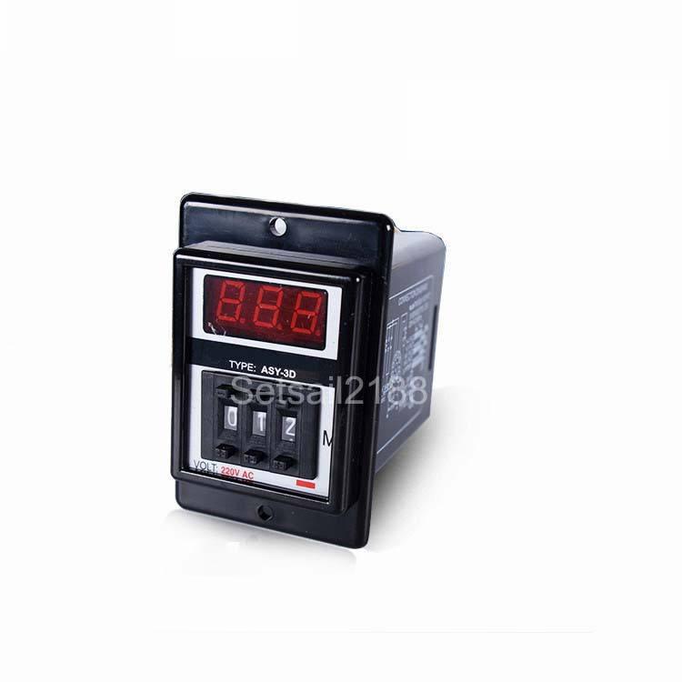 AC 220 V H3Y-2 Zeitrelais Solid State Timer 0-60 Min DPDT W Sockel