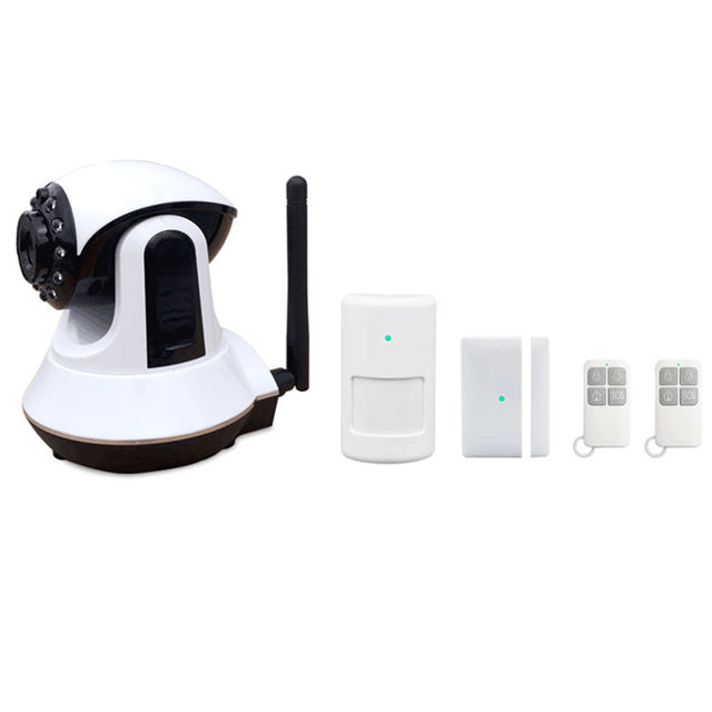 APP afstandsbediening WIFI GSM dual netwerk video monitoring thuis alarm met security camera