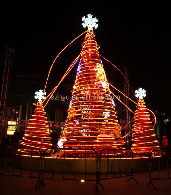 Giant LED Christmas tree Christmas scenes for outdoor large shopping mall decoration