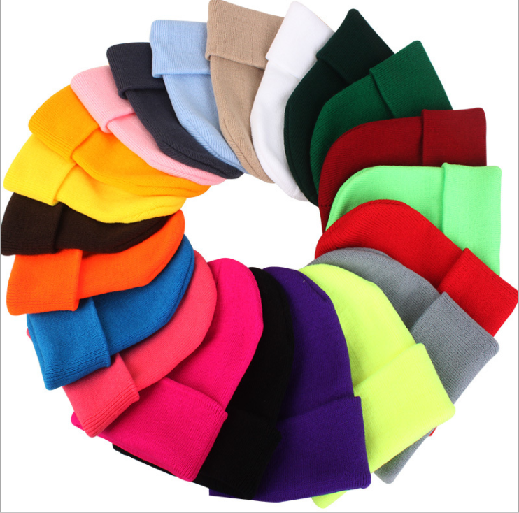 Fashion beanie character common cotton polyester knit hat slouch