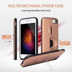 New product slide ring holder and metal kickstand cell phone case for iPhone 7