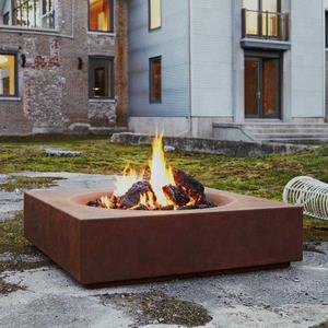 Square Shape Propane Gas Fuel Fire Pit Outdoor