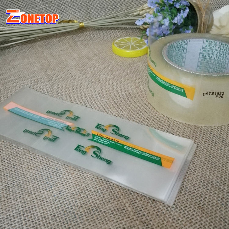Customized Packaging Labels Shrink Wrap plastic bottle label printing