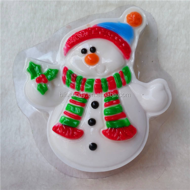 2019 new Christmas snowman 100% Organic Cleansing Soap bar