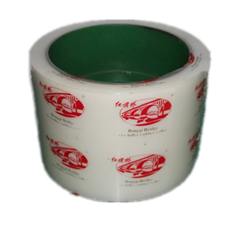 6 inch white color cast iron drum PU rubber rolls used in rice mill machine