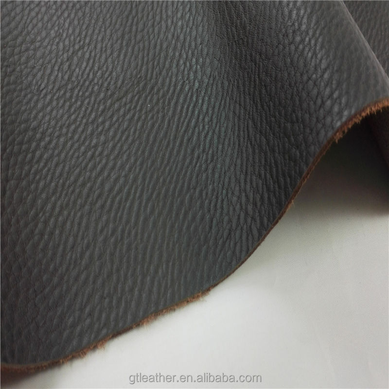 embossed cow leather pigmented matches full grain leather