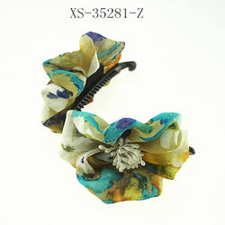 Banana Hair Clips Fashion Fabric Flower Headwear