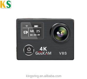 Newest V8S Dual Screen Ambarella A12 chip Action Camera 4K EIS Waterproof 30M sports camera