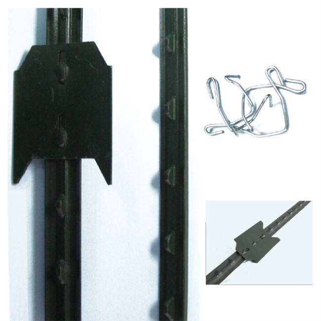 cheap 8ft length studded galvanized metal steel T fence post for sale