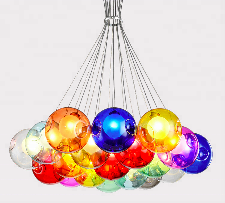 Glass Ball Chandelier Decoration Pendent Light for living room, dinning room, shop