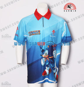 Sunwin wear manufacturer custom super quality 2017 design dart team shirt with individual name