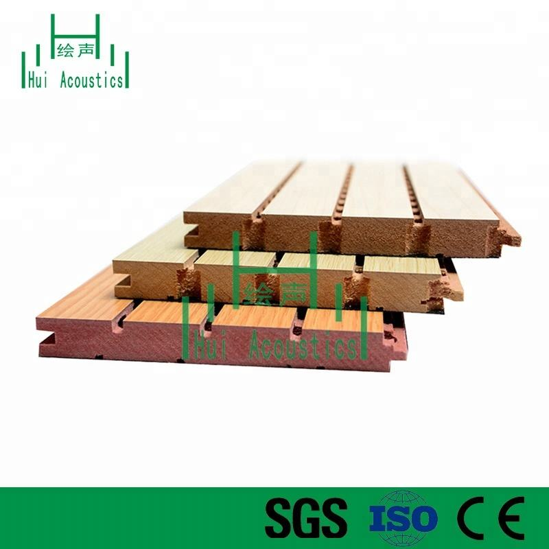 Wooden Absorption Sound Panel Wooden Groovy Acoustical Ceiling Panel Grooved Panels MDF Board Wooden Grooved Sound Absorption Panels