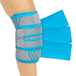 Knee Ice Pack Wrap - Cold/Hot Gel Compression Brace - Heat Support Strap for Arthritis Pain