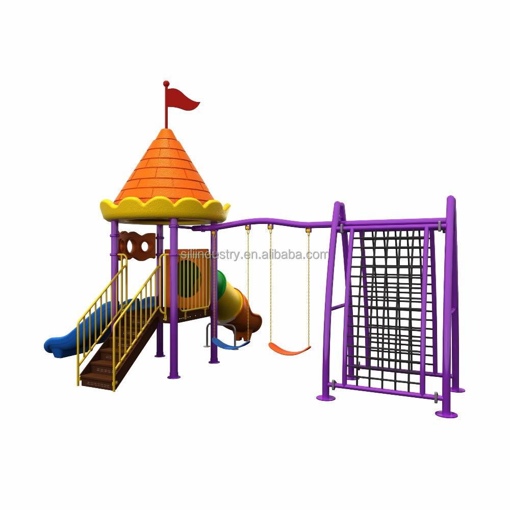 Детский сад, детская площадка на открытом воздухе замок развлечений детские жаккардовые парк пластиковая горка