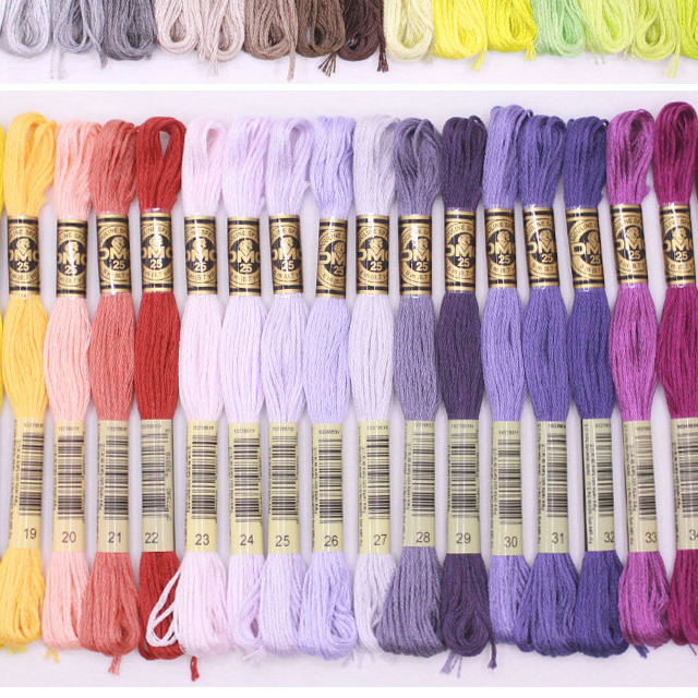 Thread 447 Pieces/bag Original French DMC Thread Embroidery Cross Stitch Floss Yarn Thread 8.7 Yard Length 6 Strands