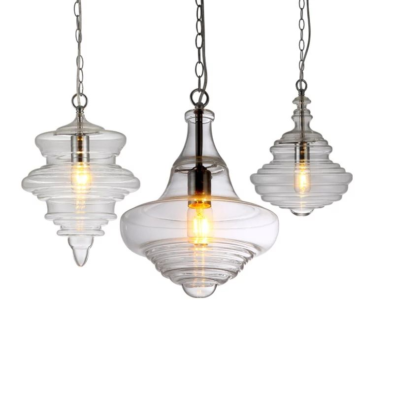 Modern design Nordic style creative minimalist blown glass chandelier