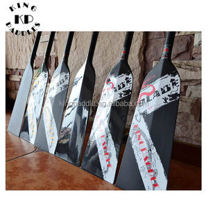 Durable 130 cm pulido completo de carbono Dragon Boat paddle