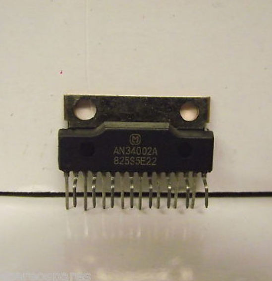 Internal IC Chips and Amplifier Chips. AN34002A microchip