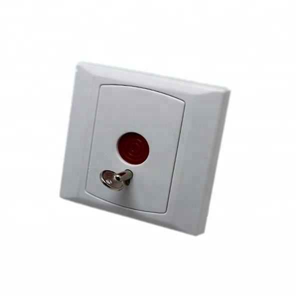 Wired emergency panic alarm button with key reset for bank/factory/Home security alarm system