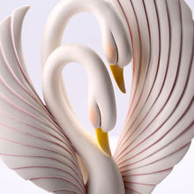 Factory price resin swan statue,polyresin couple swan,resin swan crafts wedding decoration