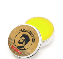 30g/60g Organic Beard Condition Sandalwood Flavor Moustache Wax Natural Men Beard Hair Wax Balm