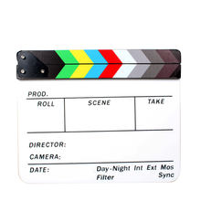 "Acrylic Clapboard Dry Erase Director Film Movie Clapper Board Slate 9.6 * 11.7"" with Color Sticks"