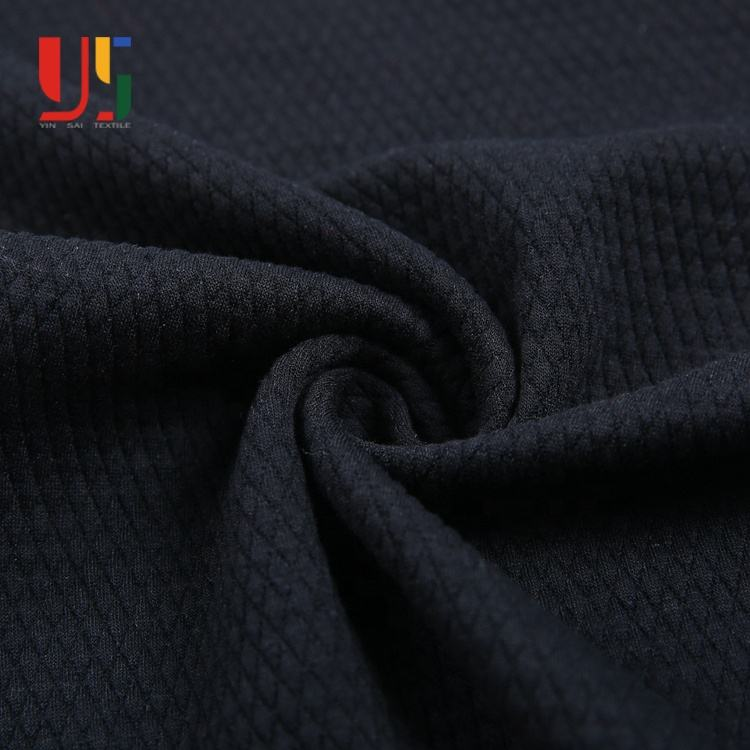 Black polyester rayon used women's clothing jacquard fabric for clothes