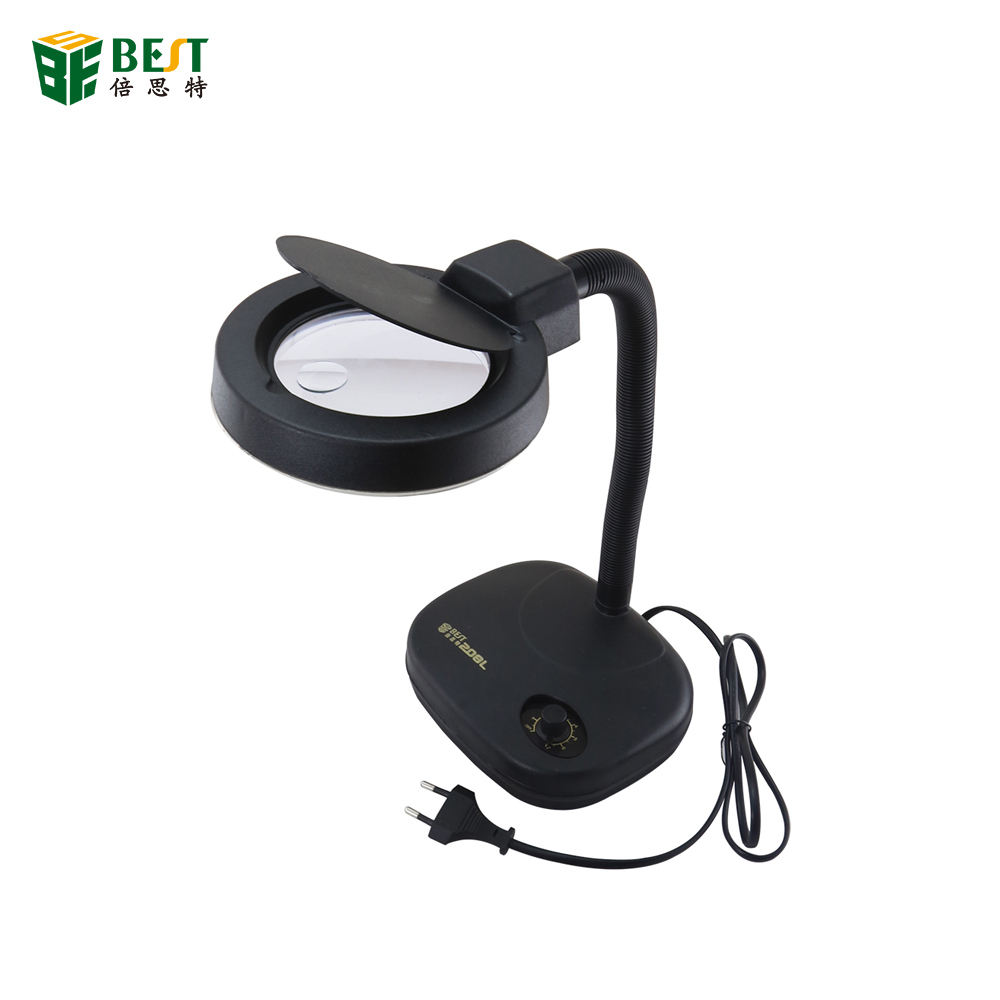 BEST-208L 5X 10X 36 LED Magnifying Glass Table Lamp