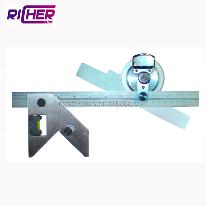 0-360 Degree Combination Square Set With Magnify Glass