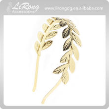Gold leaf shaped alloy hair band, Wedding hair band,gold-plated Hair accessories