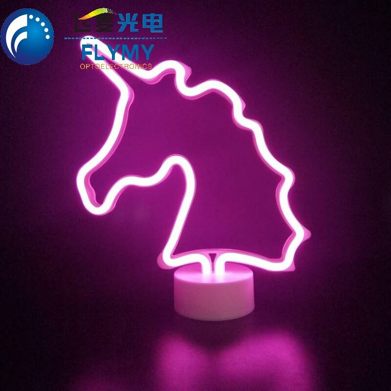 Unicorn Designs Acrylic Luminous Neon Signs Led Signature small Neon Light for Bedroom Wedding Party Christmas Home Decoration