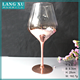 Rose gold color goblet wine glass glassware china wholesale
