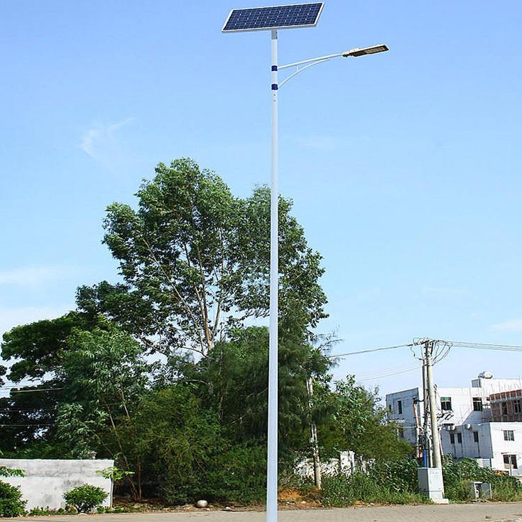 Single Double arm pole mounted solar panel 5m 6m 7m 8m 9m Q235