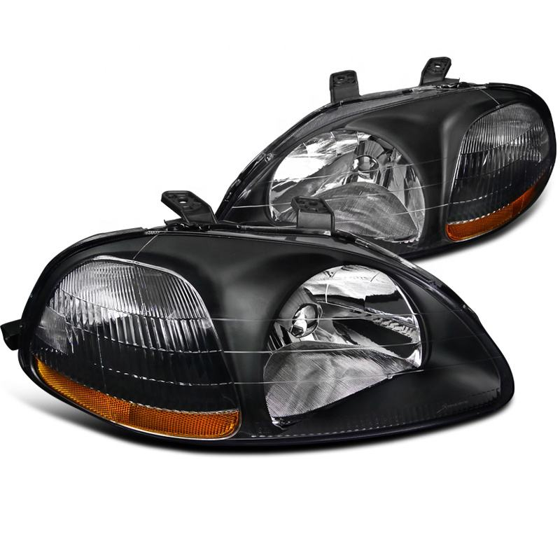 Honda Civic 4 Door Saloon 1999-2001 Chrome Headlight Headlamp Pair Left /& Right