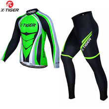 X-TIGER Winter Men Cycling Jersey Set Thermal Fleece Cycling Clothing Keep Warm MTB Road Bike Clothes 2018 Outdoor Ropa Ciclismo