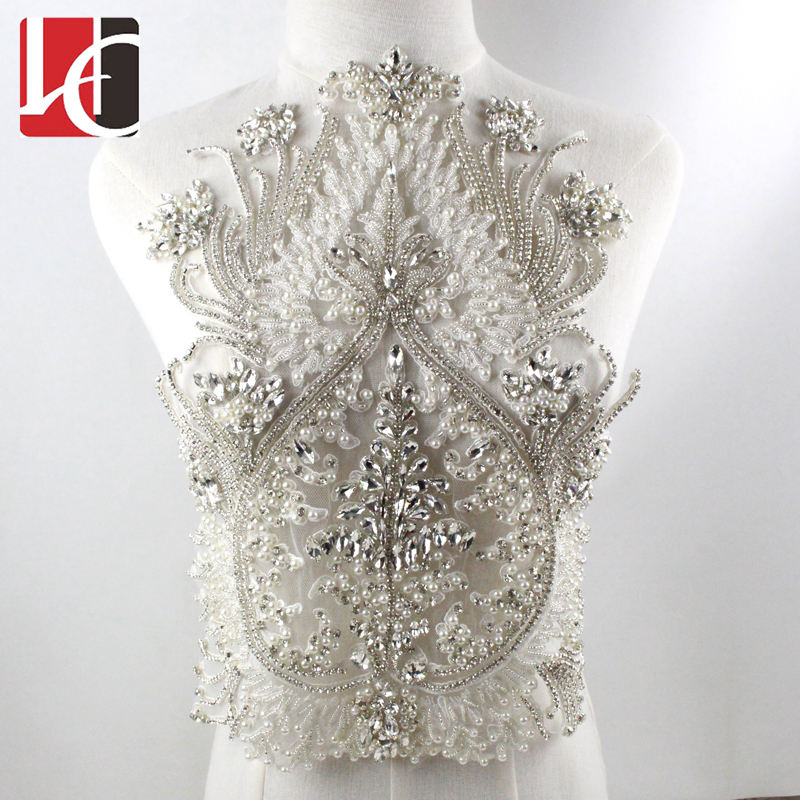 HC-4741 Hechun Hot Sale Handmade Beaded Crystal Renda Bordiran