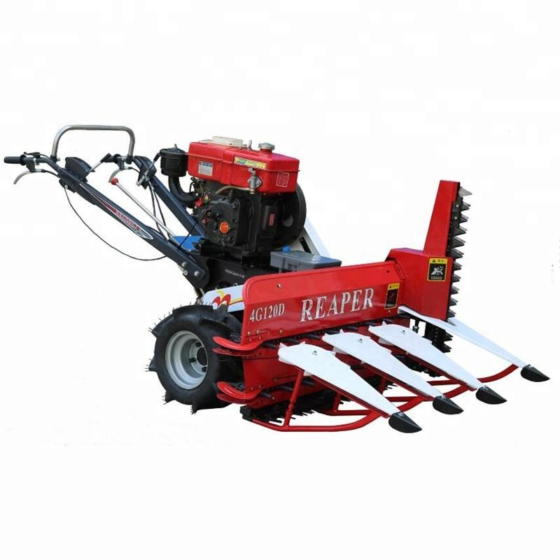 4G120 walking tractor mini harvest / paddy rice reaper