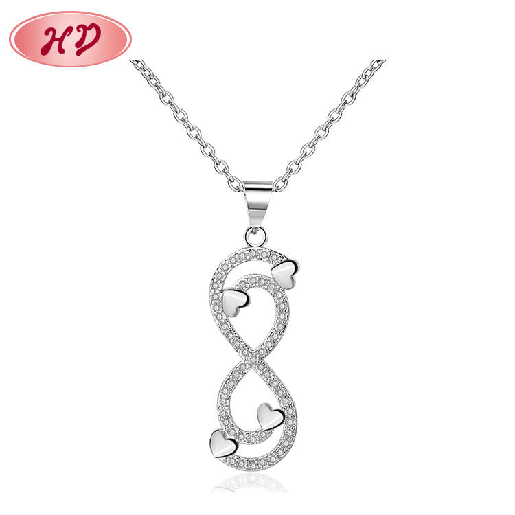 OEM Wedding Bridal Gift Necklace Infinity Ladies Dainty Necklace