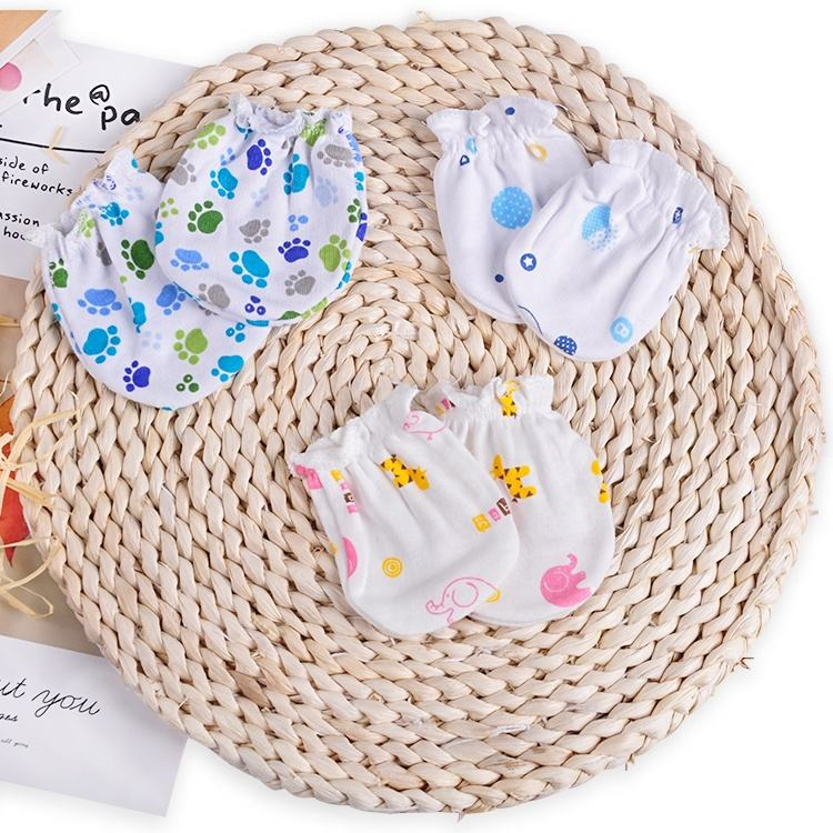 Wholesale Hot Sale Lovely Infant Toddler Gloves newborn 100% Cotton Cosy Mitten Baby
