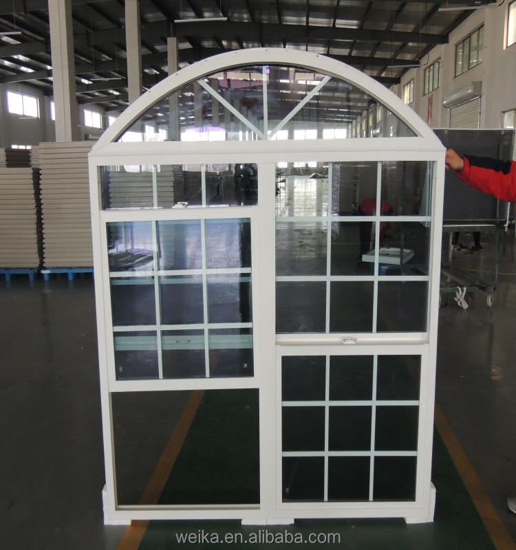2021 hot selling PVC material European Mediterranean Garden Villa family window up and down can be customized size